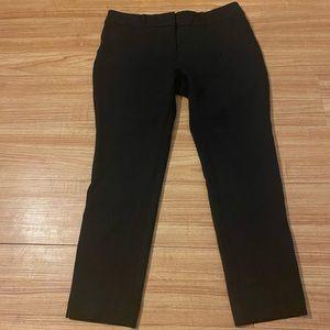 Black ankle dress pants